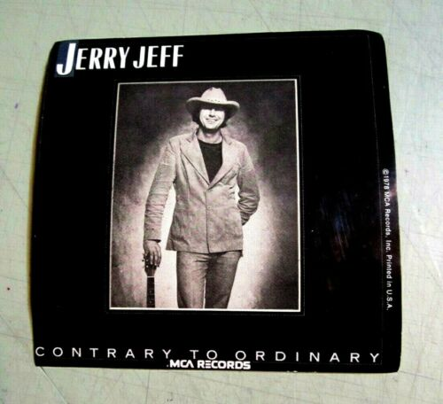 Jerry Jeff Walker 1978 MCA Contrary To Ordinary Vintage Sticker