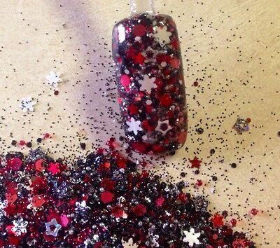 glitter mix acrylic gel nail art  Christmas Mix    HO HO HOTTIE - Christmas Glitter
