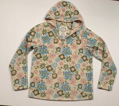 Florale Fleece Hoodie (Women's LIFE IS GOOD Medium Fleece Hoodie Long Sleeve Floral Pink Blue)