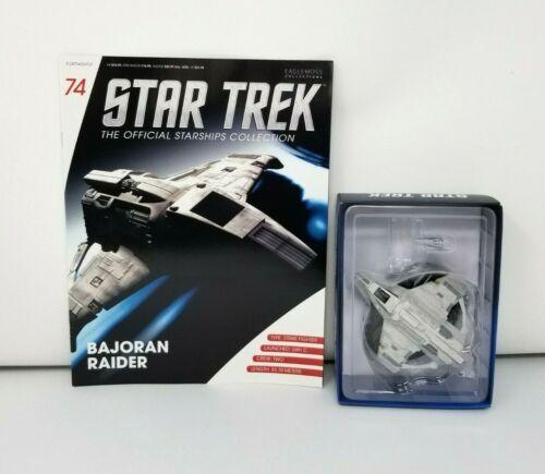 Eaglemoss Star Trek Official Starship Collection Bajoran Raider w/ Book New