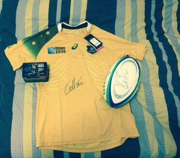Signed jersey and ball Gillieston Heights Maitland Area Preview