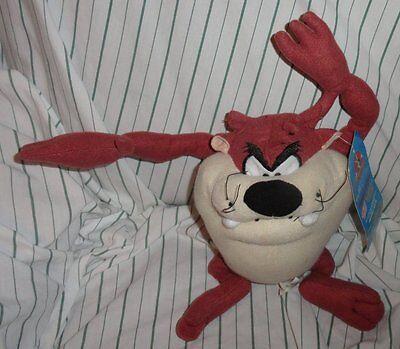 "10"" NWT NEN Looney Tunes Taz Tasmanian Devil Plush Stuffed Brown Beige Sugar Loa"
