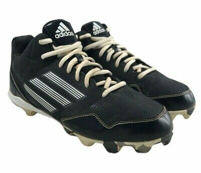 Adidas Wheelhouse Baseball Cleats - Mens Size 6 - Black White Leather Upper