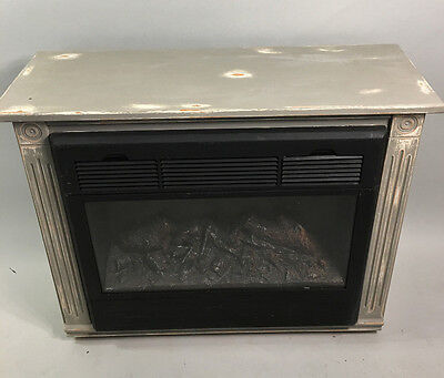 Annie Sloan Shabby Electric Fireplace Heater Free Standing - Missing remote