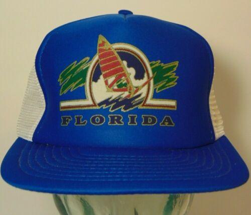 New Old Vintage 1980s Florida Sailboat Sailing Surfing Hipster Snapback Hat Cap
