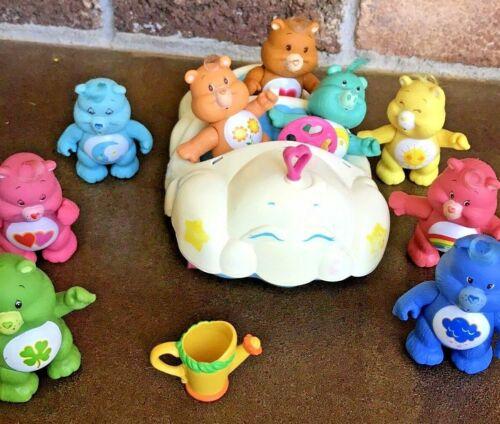 Vintage Original 1983 Care Bear Toy Figurines Plus Car Lot  American Greetings
