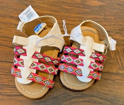 Little Girls White Pink Sandals Aztec Hippie Size 4 Toddler Toys R Us velcro](Hippie Toddler)
