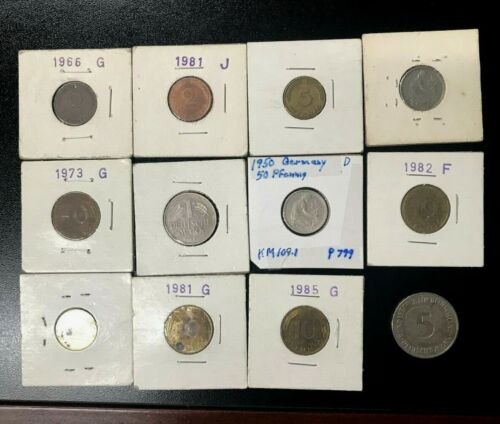 GERMANY 1 MULTI-COIN STARTER SET VARIOUS DENOMINATIONS SEE PHOTOS 1940-PRESENT