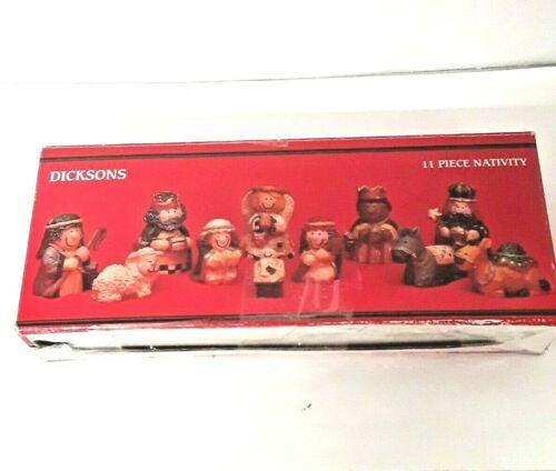 Dicksons 11pc Nativity Scene Figurine Set  Miniatures Resin CH-533 Christmas