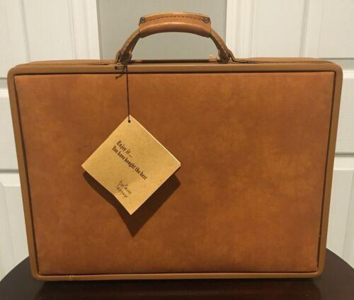 "Vintage Hartmann Leather Luggage Belting Suitcase 18.5""x13.5""x5"" NOS RARE W/ KEY"