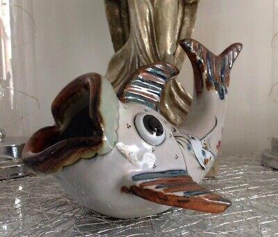 GIBRALTAR HAND MADE MEXICAN ART & CRAFTS CERAMIC FISH FIGURE