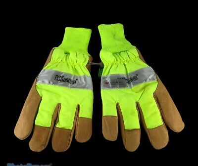 Kinco 1939kwp-xl High Visibility Heatkeep Waterproof Insulated Pigskin Gloves