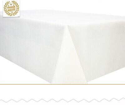 ße Leinen Optik Lotus abwaschbar Tischläufer weiß (Weiße Tischläufer)