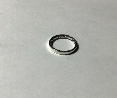 David Yurman Cable band narrow ring 3mm wide 925 sterling silver size 5.5