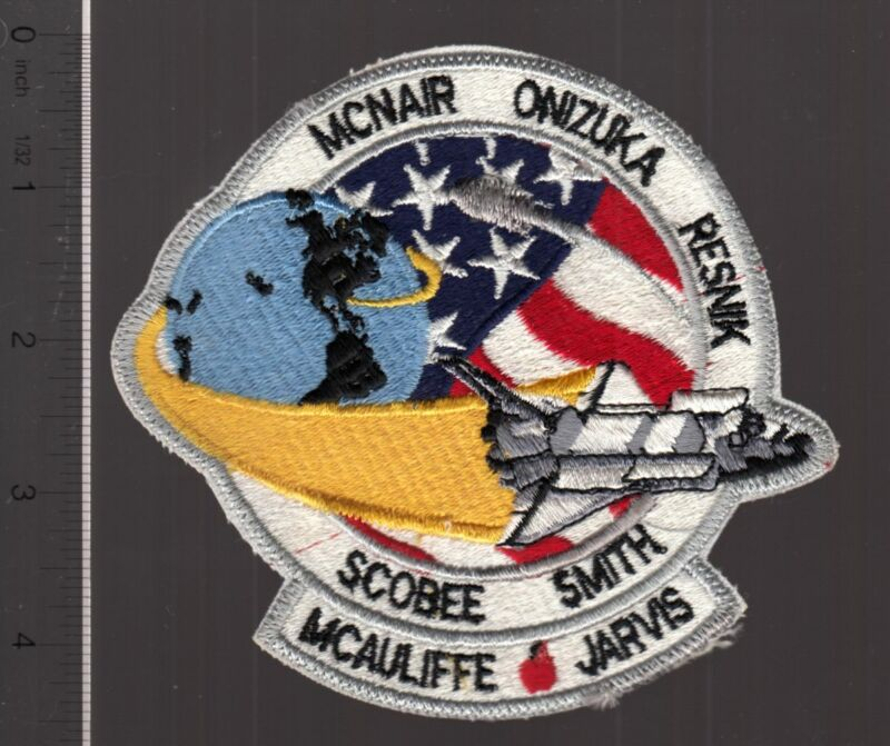 1986 Shuttle Challenger STS-33 embroidered patch McAuliffe Resnik McNair Jarvis