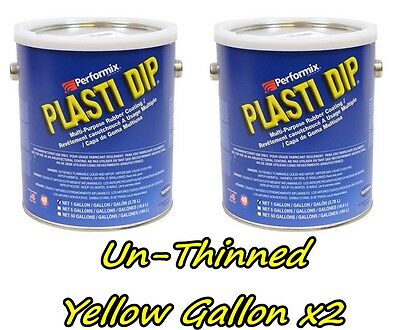2 Gallons Yellow Unthinned Performix Plasti Dip Concentrate Strength Free Sh