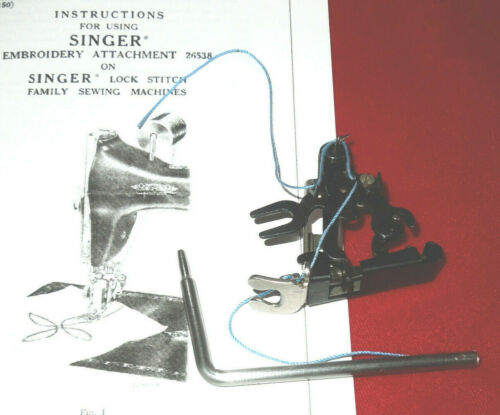 SINGER Single Thread Embroidery Attachment 26529 Featherweight BLACKSIDE - RARE