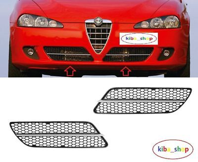 ALFA ROMEO 147 2007-2010 FRONT BUMPER GRILLE WITH CHROME MOULDING PASSENGER SIDE