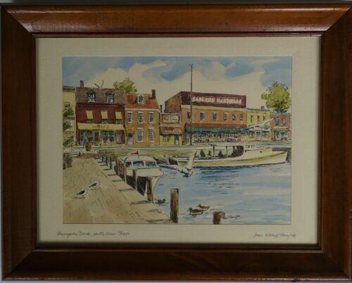 "Joan K Hanzlik ""Annapolis Dock, North View"" Limited Edition (78/450), Lithograph"