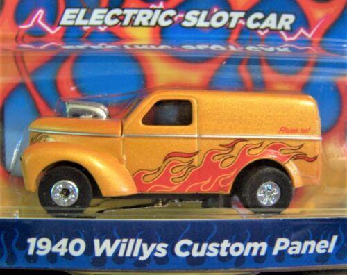 Flames  orange 1940 Willys Custom Panel Racer HO slot car Thunderjet R29 AW