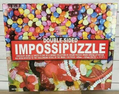 Double Sided Impossipuzzle 550 Piece Jigsaw Puzzle Chocolate Beans & Sweets NEW