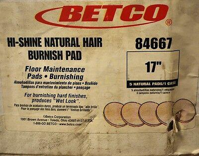 """BETCO 84667 17"""" Natural Hair Burnishing Pad For Hard Surfaces - NEW"""