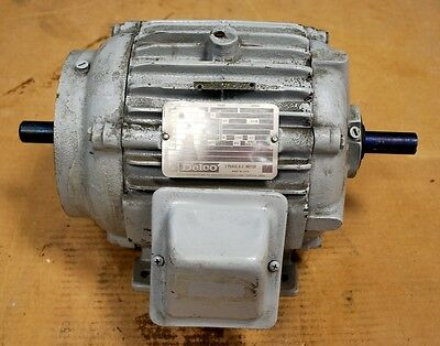 Delco 1g1454cc Double Shafted Motor. Hp1 Rpm11551200 Frame184fcz. - Used