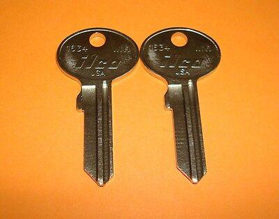 Lot Of 2  Of Ilco Wn1 1634 Key Wind Mail Box Lock Key Blanks 2 Uncut Keys