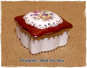 Porzellan viereckige Deckeldose klein Martinroda