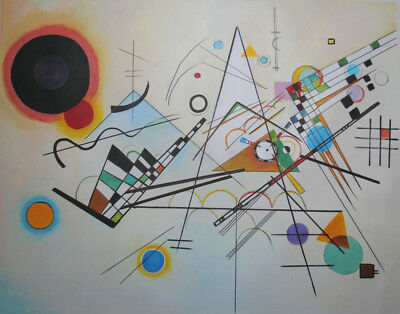 handgemalte Reproduktion d. Ölgemäldes, Kandinsky, Komposition VIII, 80x100cm