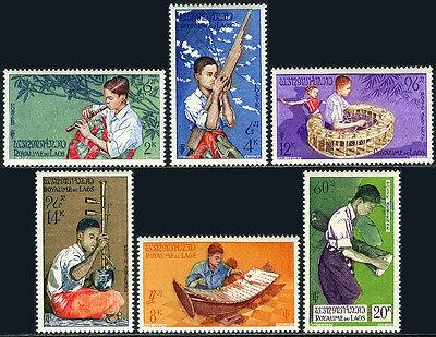 Laos 34-36,C24-C26, MNH. Musical Instruments, 1957](36c 24 34)