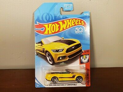2015 Ford Mustang GT Convertible Hot Wheels 168/365 FJX74-D9C0J Muscle Mania