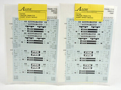 LOT OF 2 A-LINE HO SCALE 27800 TRAILER TRAIN/TTX HUSKY STACK CAR DECALS