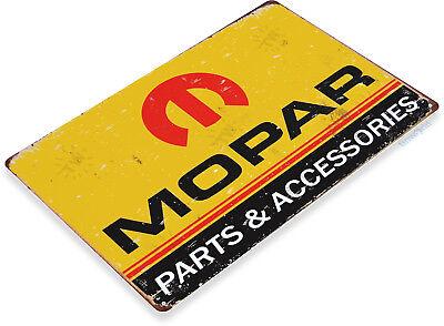 """TIN SIGN """"Mopar Parts"""" Metal Decor Wall Art Garage Auto Shop Cave A507"""