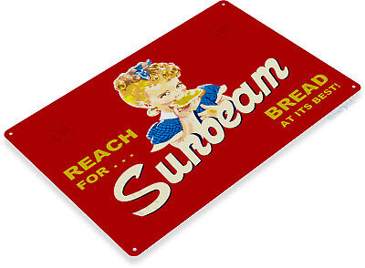 "Art Tin - TIN SIGN ""Sunbeam Bread"" Metal Decor Wall Art Kitchen Farm Store A632"
