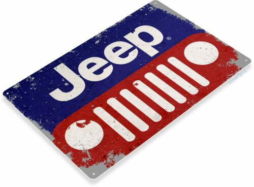 Jeep Automotive Mechanic Garage Rustic Retro Tin Metal Sign
