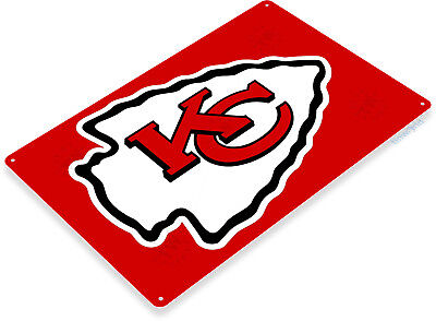 TIN SIGN B235 Kansas City Chiefs Tin Metal Sign Football Decor