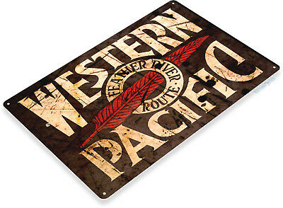 TIN SIGN B211 Western Pacific Tin Metal Sign Railroad Train Railroad Decor](Train Decor)