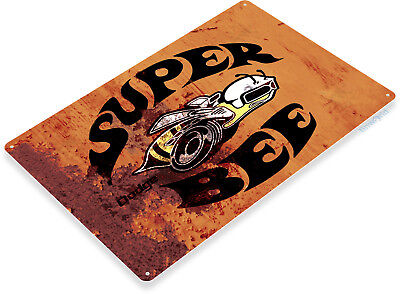 Muscle Car Decor (TIN SIGN B348 Dodge Super Bee Hot Rod Muscle Car Auto Garage Rustic Sign)