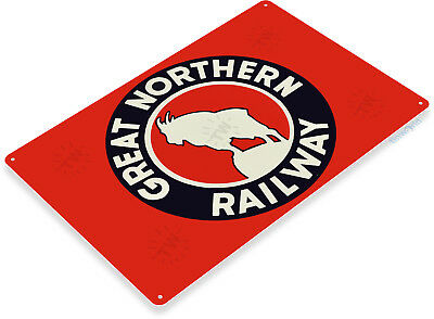 TIN SIGN B616 Great Northern Railway Railroad Train Station Metal Decor](Train Decor)