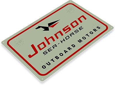 TIN SIGN Johnson Sea Horse Outboard Motors Retro Boat Motor Metal Sign C602
