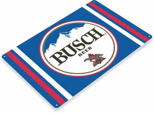 Busch Beer Bar Pub Rustic Retro Tin Metal Sign
