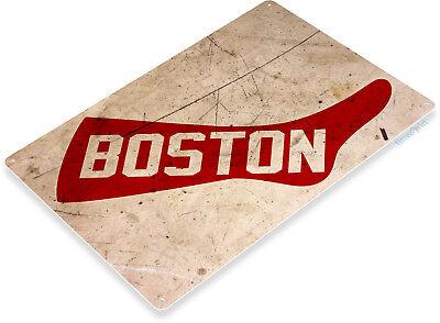 TIN SIGN Boston Red Rusty Sox Baseball Sports Fenway Park Décor Store Bar A863