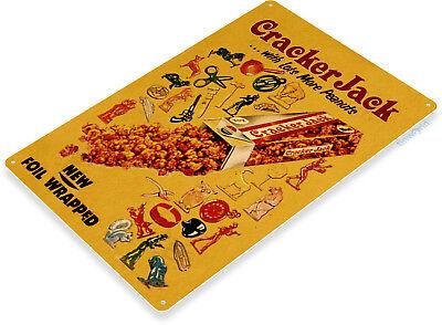 Retro Kitchen Decorations - TIN SIGN B712 Cracker Jack Retro Kitchen Cottage Food Candy Metal Decor