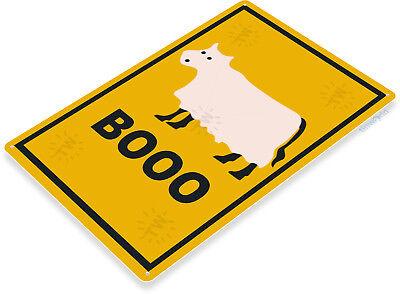 TIN SIGN Booo Cow Moo Ghost Halloween Farm Holiday Decor Decoration B339
