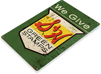 TIN SIGN S&H Green Stamps Retro Stamp Metal Sign Decor B245  Stamp Metal Sign