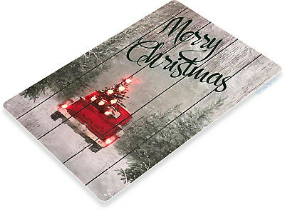 TIN SIGN B837 Merry Christmas Truck Art Holiday Decoration Metal - Merry Sign