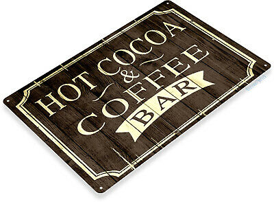 Hot Cocoa Bar (TIN SIGN Hot Cocoa Coffee Rustic Coffee Shop Bar Metal Sign Decor Kitchen C006)