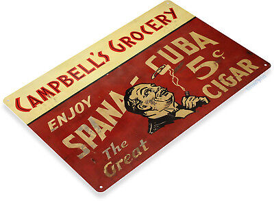 TIN SIGN B527 Spana Cuba Cigar Metal Sign Cigar Bar Smoke Shop Decor - Cuba Sign