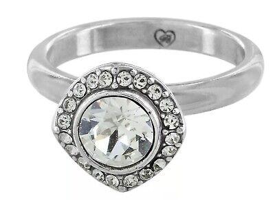 Brighton Silver ROMANTICA Solitaire Halo RING 💍 SIZE 9 Swarovski crystal NWT
